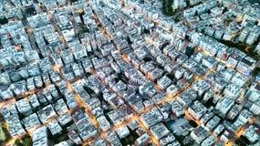 Vista aerea sul towm fotografie stock libere da diritti
