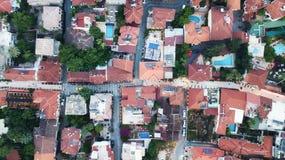 Vista aerea sul towm fotografia stock libera da diritti