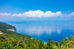 Vista aerea sulla baia Italia Immagini Stock