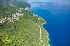 Vista aerea sulla baia Italia Immagine Stock