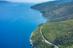 Vista aerea sulla baia Italia Fotografia Stock Libera da Diritti