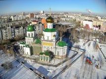 Vista aerea sulla cappella del tempio in onore di signora Day Fotografia Stock Libera da Diritti
