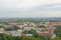 Vista aerea sulla città di Riga, capitale della Lettonia Fotografia Stock Libera da Diritti