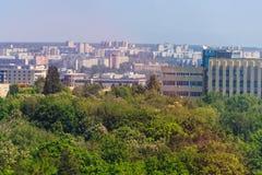 Vista aerea sulla citt? di Hark?v in Ucraina fotografia stock