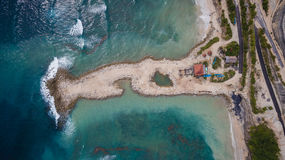 Vista aerea sulla riva dell'oceano fotografia stock