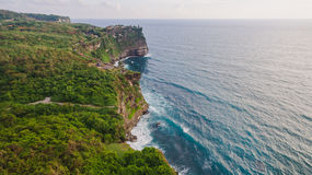 Vista aerea sulla riva dell'oceano Immagini Stock Libere da Diritti