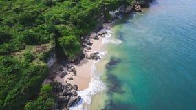 Vista aerea sulla riva dell'oceano Immagine Stock