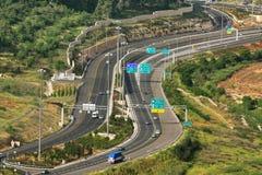 Vista aerea sulla strada principale. fotografia stock