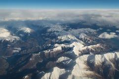Vista aerea sulle alpi Fotografia Stock