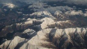 Vista aerea sulle alpi Fotografie Stock