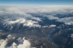 Vista aerea sulle alpi Immagini Stock