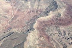 Vista aerea sulle montagne Immagine Stock