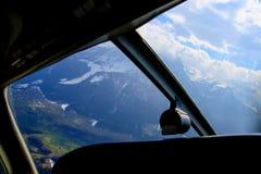 Vista aerea unica dell'aeroplano delle alpi svizzere centrali Fotografie Stock Libere da Diritti