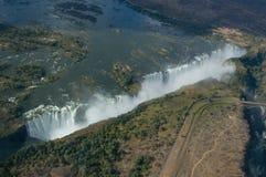 Vista aerea Victoria Falls Fotografie Stock Libere da Diritti