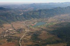 Vista aerea - vista aerea della strada principale Hemus in Bulgaria Fotografia Stock