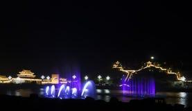 Vista affascinante di notte Fotografia Stock