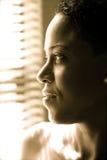 Vista afro-americana da senhora Imagem de Stock Royalty Free
