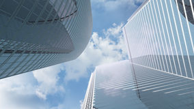 Vista agli edifici per uffici del highrise Fotografia Stock Libera da Diritti