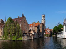 Vista agradável de Bruges Imagens de Stock Royalty Free