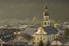 Vista agradável de Fulpmes, Áustria Fotos de Stock Royalty Free