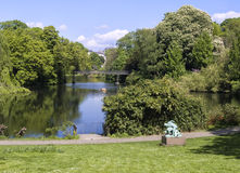 Vista agradável de um parque em Copenhaga Fotografia de Stock Royalty Free
