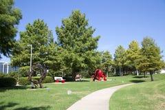 Vista agradável Hall Park na cidade Frisco Texas imagem de stock