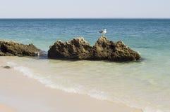 Vista agradável a maioria de praia beautuful em Europa Fotos de Stock Royalty Free