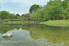 Vista agradável no jardim Foto de Stock Royalty Free