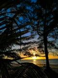 a vista agradável oren o sol do mar da cor foto de stock royalty free