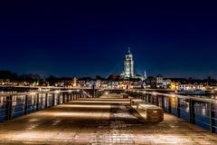 Vista agradable de la iglesia del lebuinus en el deventer Países Bajos Imágenes de archivo libres de regalías