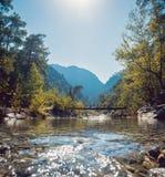 Vista agradable de las montañas Imagen de archivo