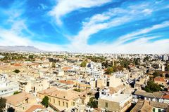 Vista agradable de Nicosia, Chipre Imagen de archivo libre de regalías