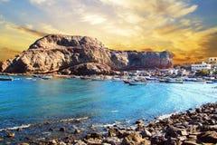 Vista agradable del golfo de Adén en Yemen Fotografía de archivo libre de regalías
