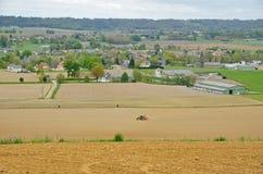 Vista agricola francese Fotografie Stock