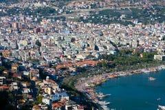 Vista al Alanya Fotografie Stock Libere da Diritti