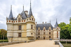 Vista al castello Azay le Rideau fotografia stock