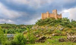 Vista al castello di Almourol nel Portogallo Immagine Stock Libera da Diritti