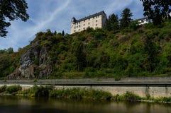 Vista al castello Schadeck con il cielo nuvoloso Fotografie Stock Libere da Diritti