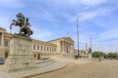 Vista al castillo de Unteres del belvedere Imagen de archivo libre de regalías