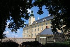 Vista al castillo superior en Fulnek Imágenes de archivo libres de regalías