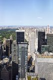 Vista al Central Park e Manhatten, New York, Stati Uniti Fotografia Stock