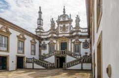 Vista al cortile di Mateus Palace vicino a Vila Real nel Portogallo Fotografia Stock