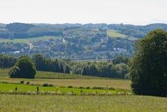 Vista al Danubio en Hofamt Priel imagenes de archivo