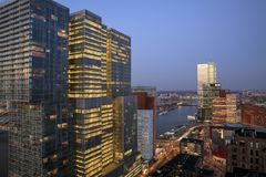 Vista al ` del De Rotterdam del ` immagini stock libere da diritti