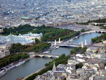 Vista al fiume di Seine Fotografie Stock Libere da Diritti