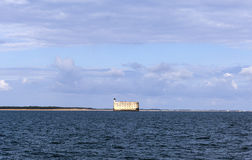 Vista al Fort Boyard dall'Oceano Atlantico - la Francia Fotografia Stock