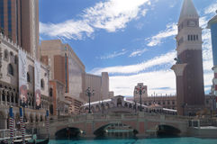 Vista al hotel veneciano, Las Vegas foto de archivo libre de regalías