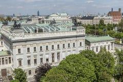 Vista al inVienna del edificio del parlamento Imágenes de archivo libres de regalías