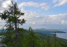 Vista al lago Fotografia Stock Libera da Diritti