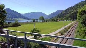 Vista al lago immagine stock
